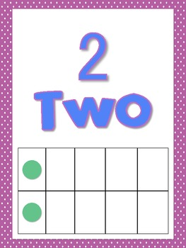 Number Posters with Ten Frames 1-20