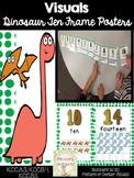 Number Posters 1-20 with Ten Frames: Dinosaur Theme