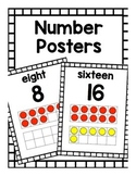 Number Posters (with Ten-Frames)