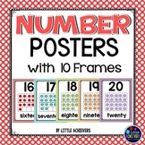 Number Posters With Ten Frames (Number Posters 1 to 20)