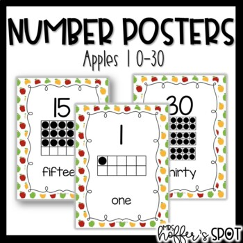 Number Posters with Ten Frames {Apples}