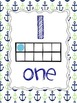 Nautical Ten Frame Number Posters 1-10 {Blue and Green}