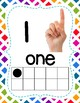 Number Posters with Ten Frames & Counting Hands- Colorful Rainbow Theme