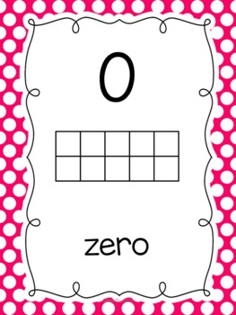 Number Posters with Ten Frames {Little Polka Dots}