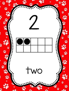 Number Posters with Ten Frames {Pet Themed}