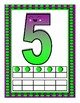 Number Posters with Ten Frames Purple and Lime Dots