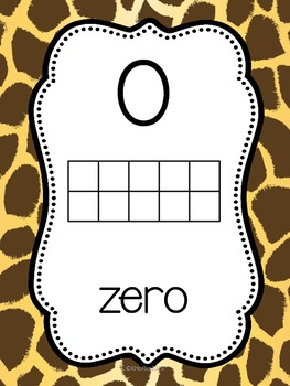 Number Posters with Ten Frames {Wild Animals}