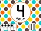 Number Posters with Ten Frames and Tally Marks in Candy Colors Theme