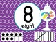 Number Posters with Ten Frames and Tally Marks in Candy Shop Theme