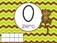 Number Posters with Ten Frames and Tally Marks in Monkey Theme