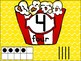 Number Posters with Ten Frames and Tally Marks in Popcorn Theme