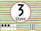 Number Posters with Ten Frames and Tally Marks in Primary Colors Theme