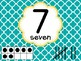 Number Posters with Ten Frames and Tally Marks in Yellow Teal and Gray 0-10