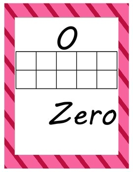 Number Posters with Ten Frames and Tens and Ones