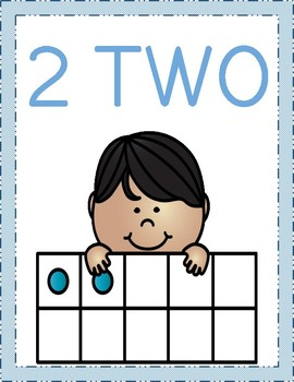 Number Posters with Tens Frame