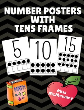 Number Posters with Tens Frames