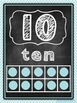 """Number Posters"" with chevron, burlap, and chalkboard"