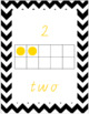 Number Posters with tens frames 0-20 Chevron themed