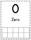 Number Posters/Flashcards with Numbers, Words, and Ten Frames