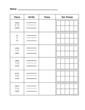 Number Practice 0-10 with ten frames