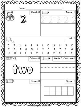 Number Practice (0-20)