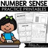 Kindergarten Math Number Sense Activities | Writing Numbers 1-20 Worksheets