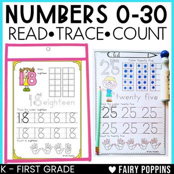 Number Practice (0-30) - Zaner-Bloser Font