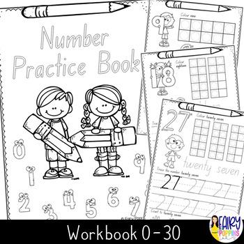 Number Practice (0-30) - Australian font