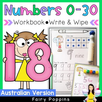 Number Practice (0-30) - Worksheets and Work Mats (Austral