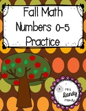 Fall Number Practice 0-5