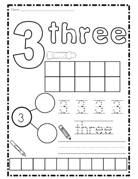 Number Practice 1-10 by Nicole Brunner | Teachers Pay Teachers