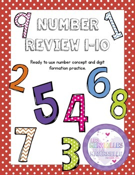 French Number Practice Booklet - 1-10