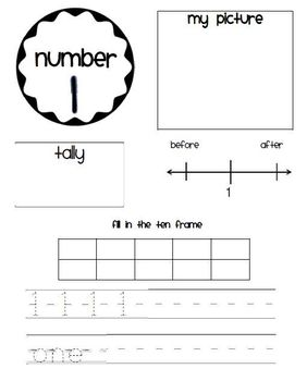 Number Practice 1-10 - FREE
