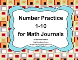 Number Practice 1-10 for Math Journals