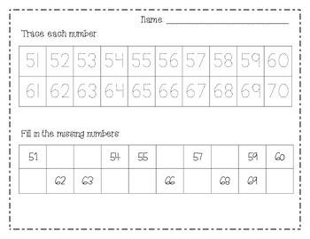 Number Practice (1-100)