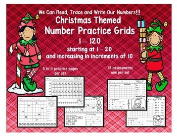 Number Practice 1 - 120 Christmas Themed