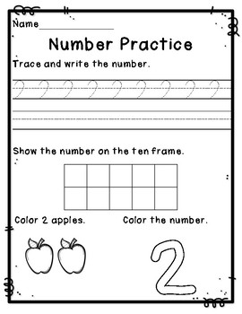 Number Practice Pages {1-20}