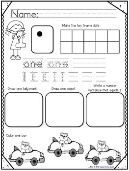 Number Practice 1-20 {Handwriting & Number Sense}