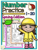 Number Practice 1-20 Spring Edition