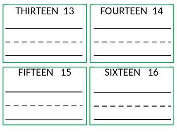 Number Practice 1-50