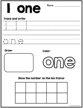 Number Practice 1-50 Bundle