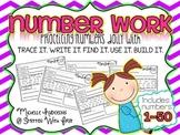 Number Practice 1-50 {trace it. write it. find it. use it. build it.}