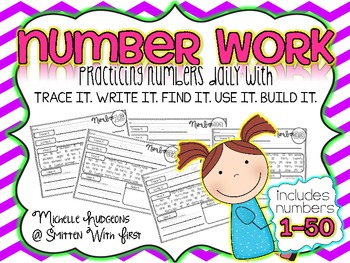 Number Practice 1-50 {trace it. write it. find it. use it. build it.}