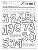 Number Practice 1-9 {Click File, Print BUNDLE}