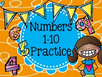 Number Practice 1 to 10 Morning Work Review