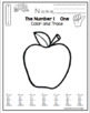 Number Practice - 2 Sets- Life Cycle of an Apple Theme