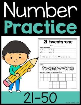 Number Practice 21-50