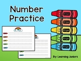 Number Practice Write and Wipe