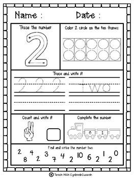 Number Practice Activity