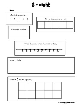 Number Practice - All About the Numbers 1-10